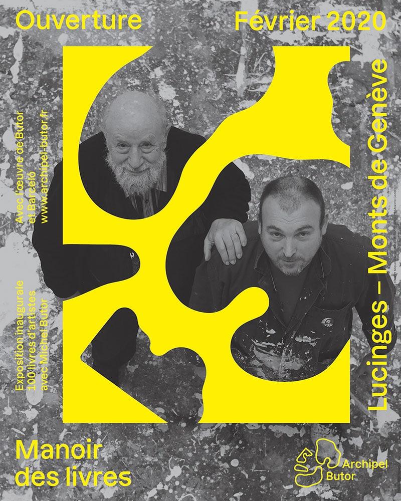 Affiche de l'exposition inaugurale de l'archipel Butor