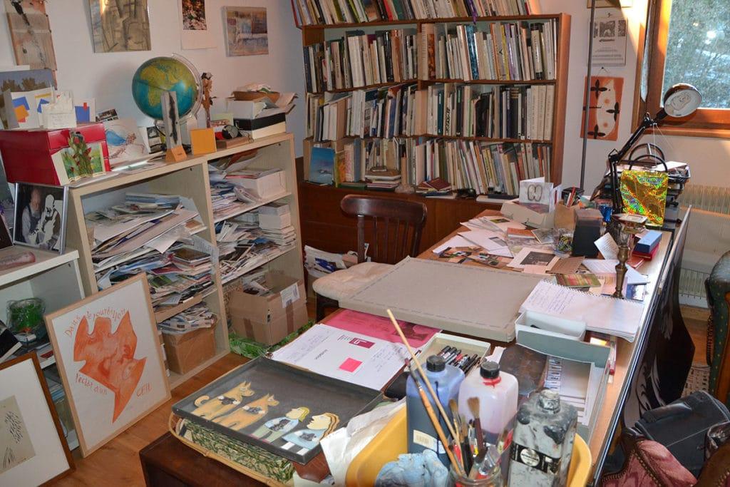 Le bureau de Michel BUTOR