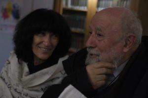 Mireille Calle-Gruber et Michel Butor à La Maison de Balzac à Paris, le 6 décembre 2014.