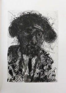 Portrait de Michel Butor en torero par Miquel Barcelo, extrait de 90, éditions de la Différence, 2016